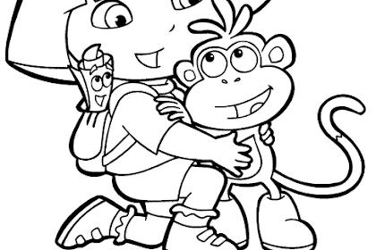 Gambar Dora Untuk Mewarnai