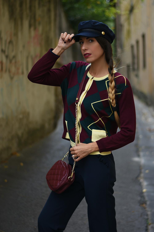 maglione a rombi