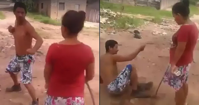 Angry Wife Beats The Alcohol Out Of Her Drunk Husband! MUST WATCH!