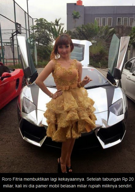 foto mobil mewah super car lamborgini milik pesinetron roro fitria