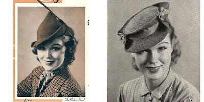 Vintage 1930s Crochet Robin Hood Hat Patterm