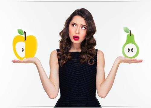 شكل جسمك كمثرى أو تفاحة إختاري الرجيم المناسب له