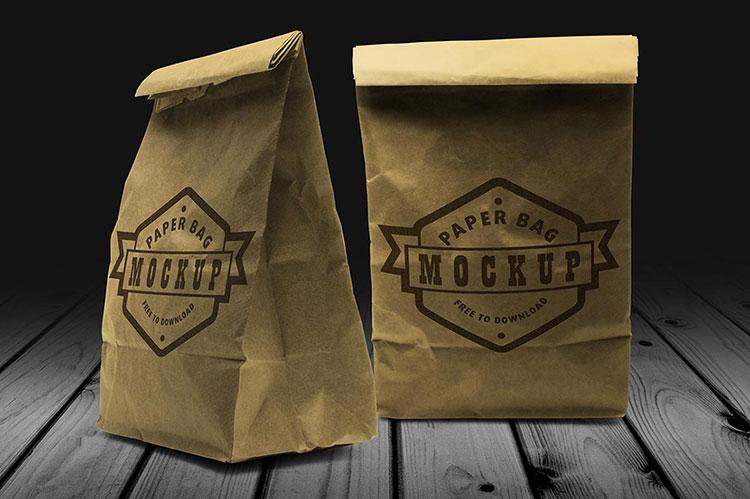 Free Paper Bag Mock-up