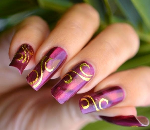 Happy New Year 2015 Nails Design Ideas Pics