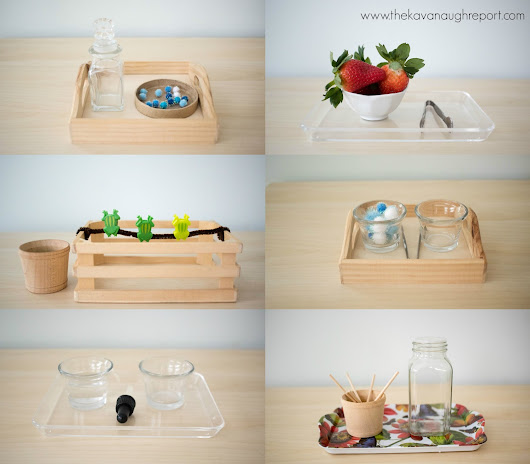 6 Montessori Inspired Trays for Toddlers that Love to Pinch