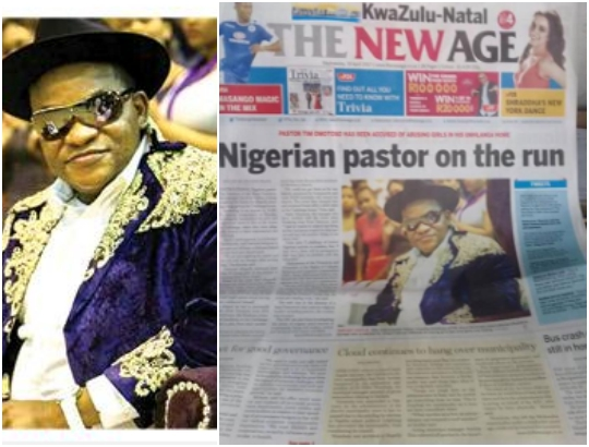 Nigerian pastor wanted in South Africa for allegedly abusing young girls