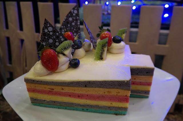 Ramadhan Buffet Dinner at Swiss-Garden Hotel and Residences Kuala Lumpur, rainbow cake,