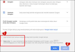 Langkah - Langkah Menghapus Akun Google Plus