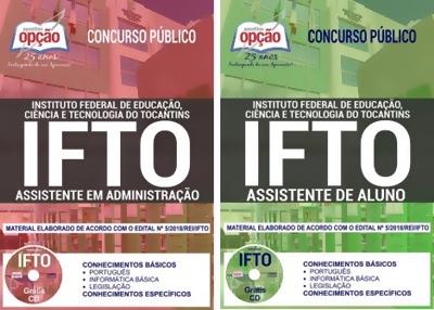 Apostila Concurso IFTO 2018 - Assistente de Aluno e Assistente em Administração