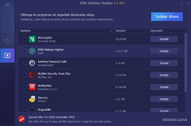 IObit Software Updater Pro 2 Full imagenes