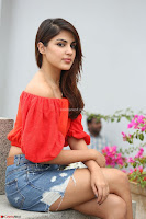 Rhea Chakraborty in Red Crop Top and Denim Shorts Spicy Pics ~  Exclusive 333.JPG