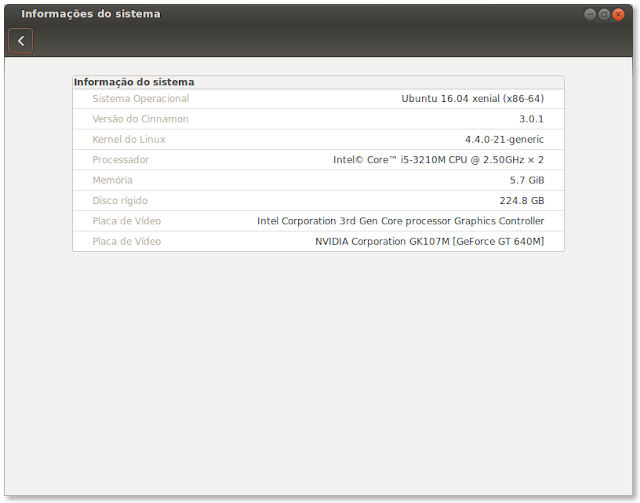 Cinnamon no Ubuntu 16.04