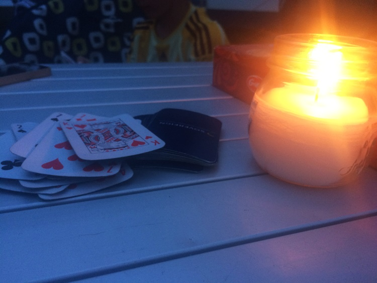 Endless rounds of cards by candlelight