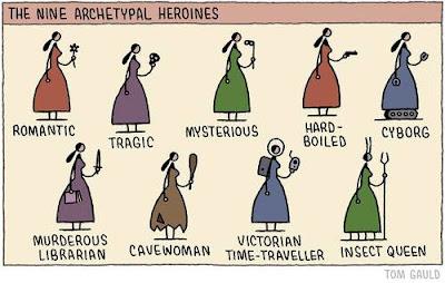 Meme de humor sobre heroínas de los libros