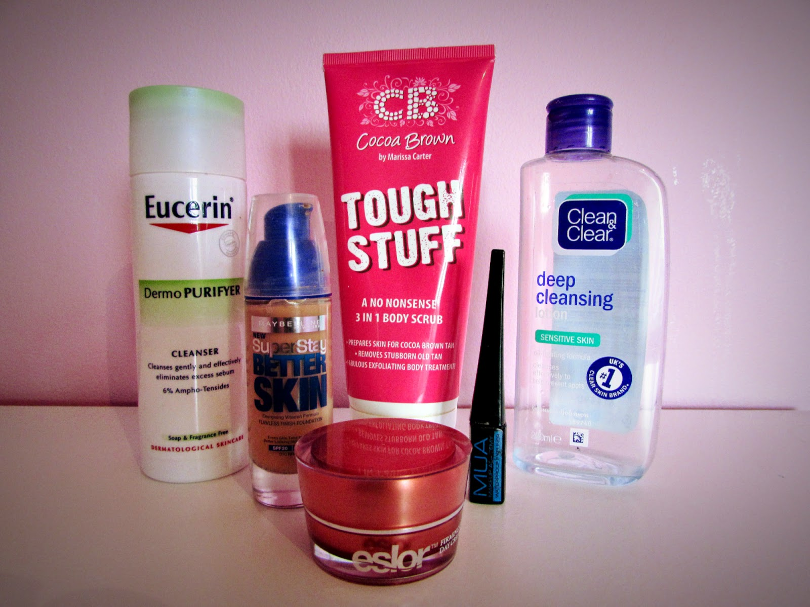 DollfaceBlogs | February empties | Cocoa Brown, Eucerin Maybelline, Clean & Clear, Eslor, MUA