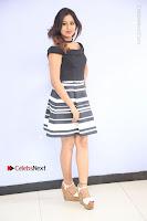 Actress Mi Rathod Pos Black Short Dress at Howrah Bridge Movie Press Meet  0039.JPG