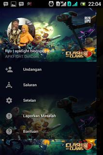 BBM Mod Tema Clash Of Clans COC Apk