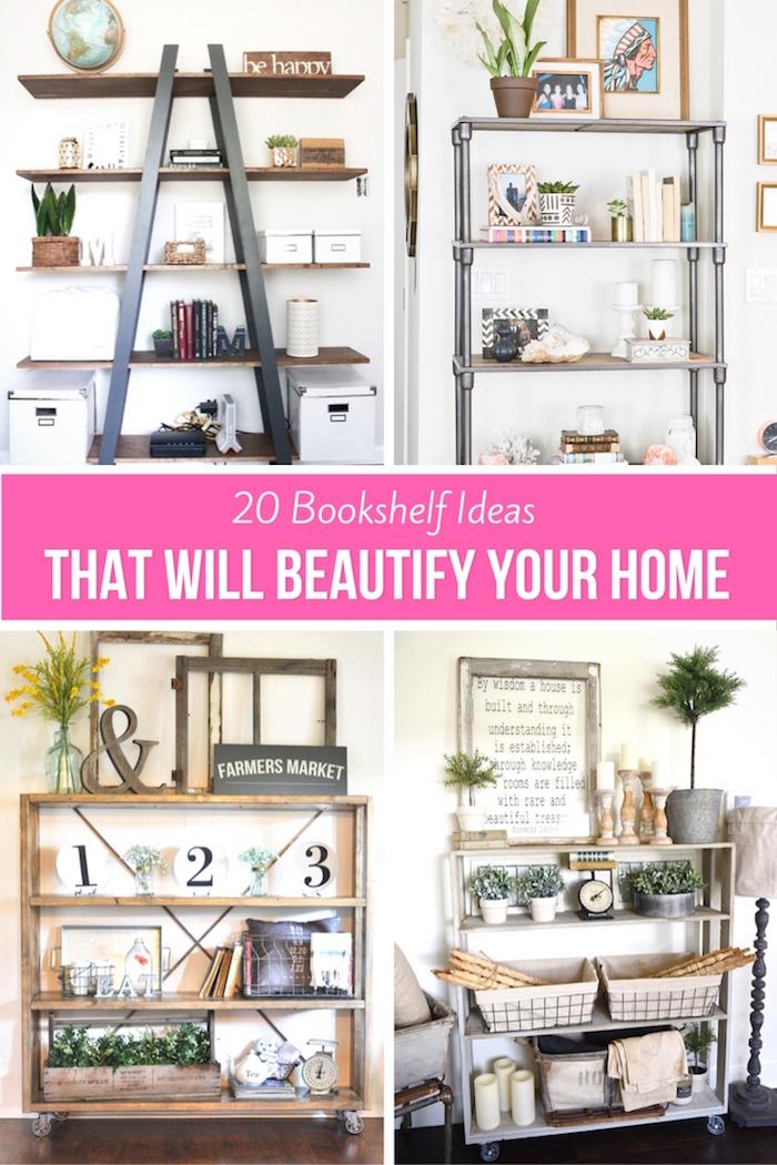 20 bookshelf ideas hacks