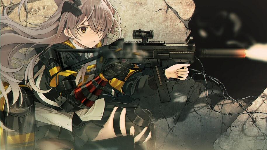 Anime, Girls Frontline, Shooting, Guns, UMP45, 4K, #6.1074
