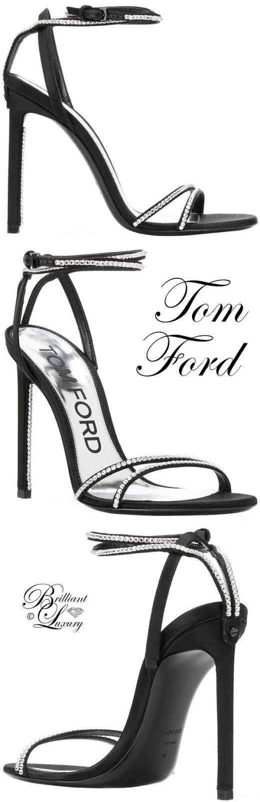Brilliant Luxury ♦ Tom Ford crystal embellished sandals #black