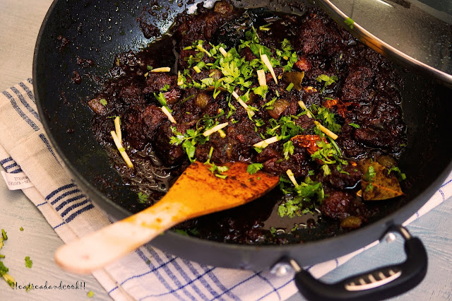 how to make Mutton Bhuna recipe and preparation with step by step pictures