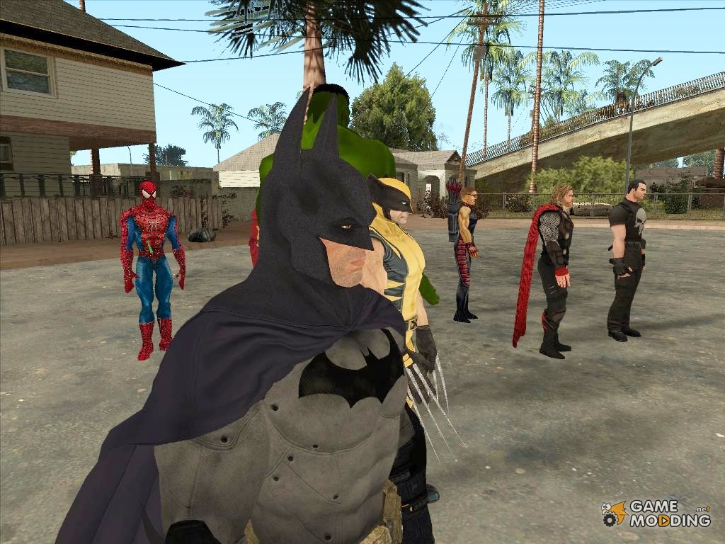gta san andreas super hero mod in android rs tips