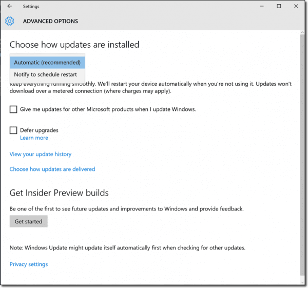 How to Disable Updates in Windows 10 1607 using Group Policy