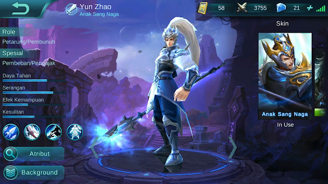 Hero Yun Zhao ( Anak sang Naga ) High AD/ Tank Build/ Set up Gear