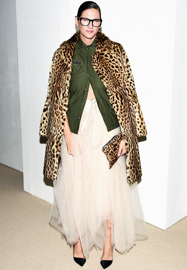 cool-girl-party-outfit-jenna-lyons-radical-chic-leopard-print-military-jacket