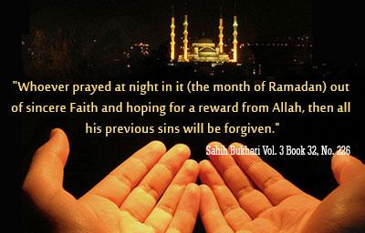 Sayings and prayers for Ramadan