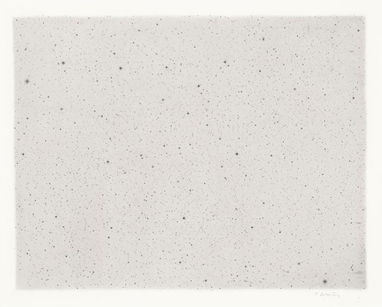 Vija Celmins Reverse Night Sky #2, 2014 Charcoal on acrylic ground on paper 35 x 43 cm