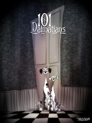 Los clásicos de Disney al estilo de Tim Burton: 101 dálmatas. Ver. Oír. Contar.