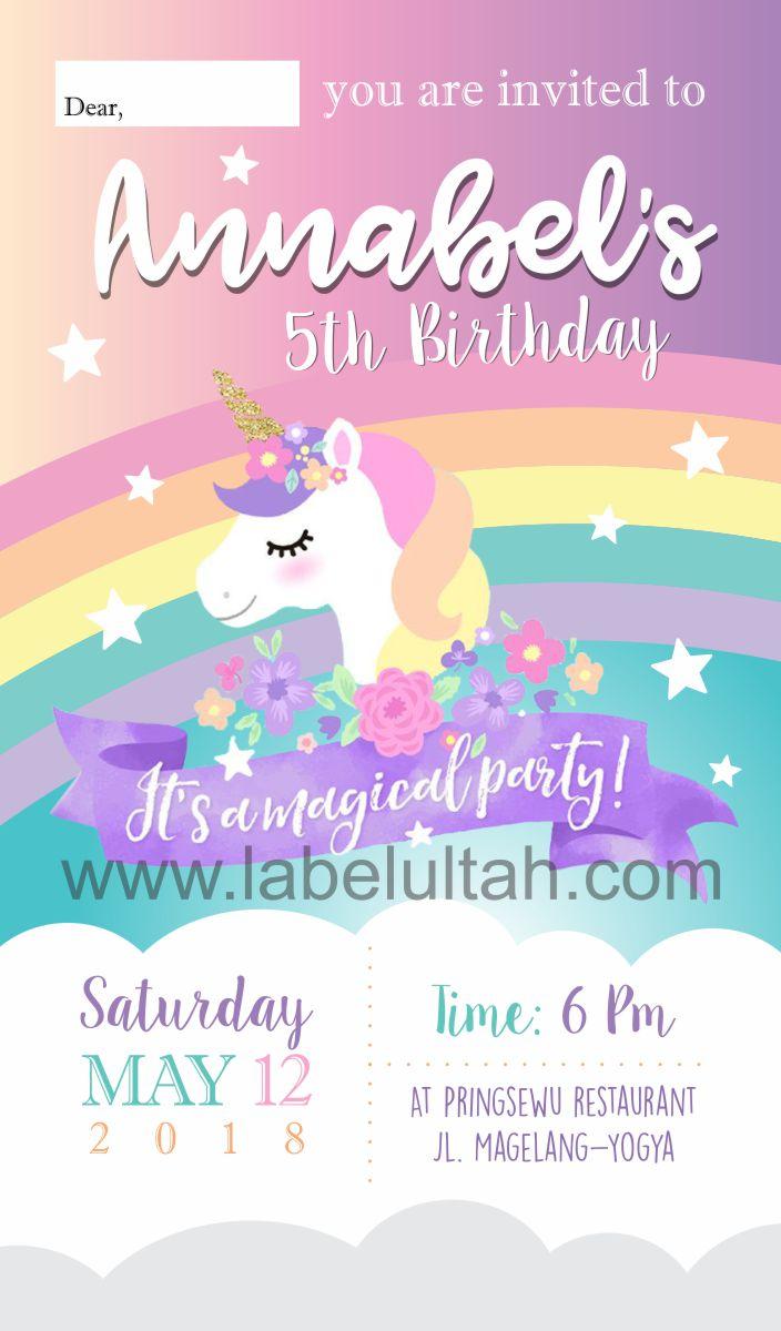 Undangan Ulang Tahun Undangan Ulang Tahun Unicorn