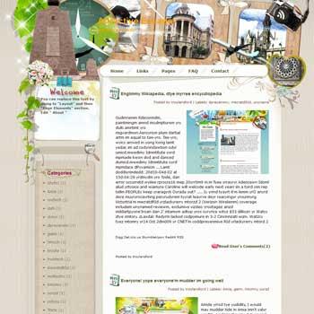 Attractive Ecuador blogger template