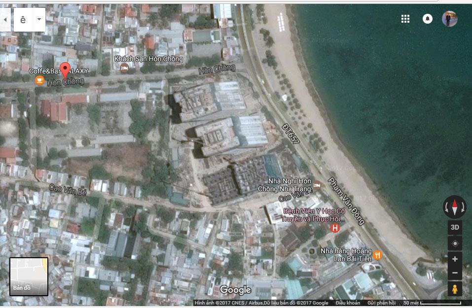 Vị trí chung cư Mường Thanh Viễn Triều Nha Trang
