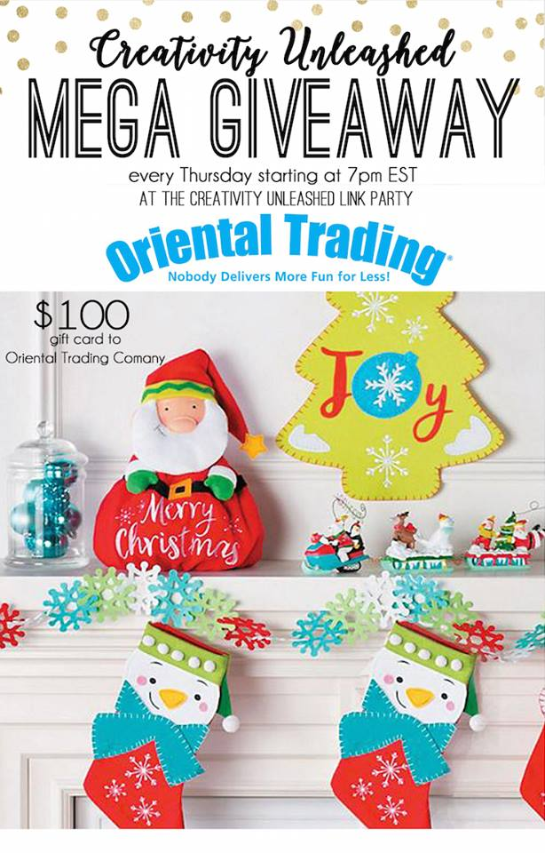 Oriental Trading Giveaway at Creativity Unleashed Link party #200, MyLove2Create