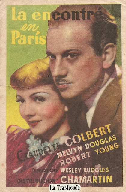 Programa de Cine - La Encontré en París - Claudette Colbert - Melvyn Douglas - Robert Young