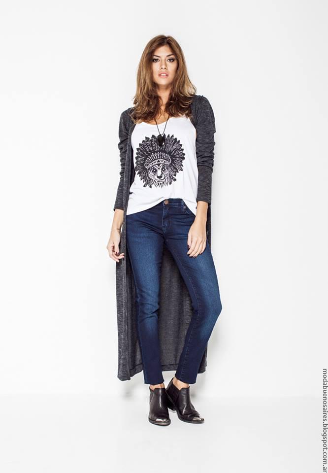 Moda invierno 2016 ropa de mujer Soulfly pantalones de jeans, remeras y sacos invierno 2016.