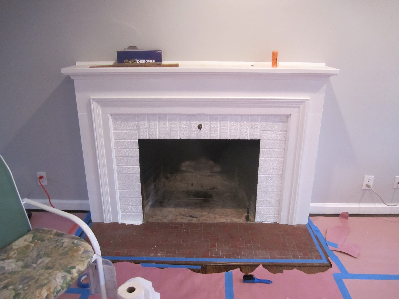 Retro ranch reno operation hearth re tile the tile shop inspiration - Tiling a brick fireplace ...