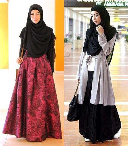 dress muslimah syar'i terbaru 2017/2018