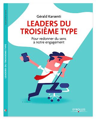 Clod illustration couverture livre Gérald Karsenti, leaders du troisième type, éditions Eyrolles