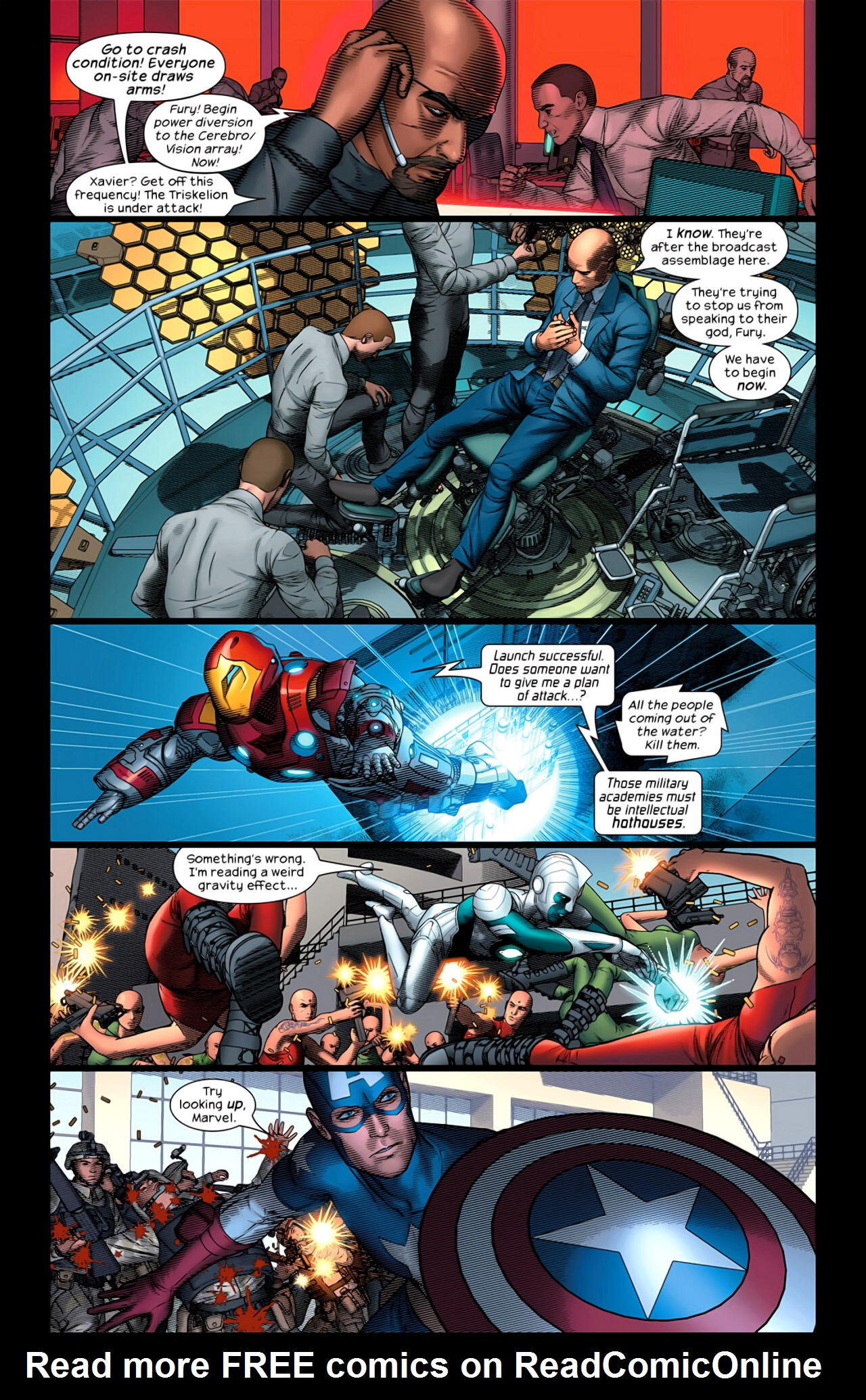 Read online Ultimate Extinction comic -  Issue #5 - 6