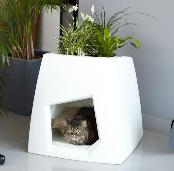 15 Coolest Litter Boxes Hidden Litter Planter Box
