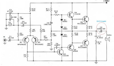 Rangkaian Power Amplifier OTL