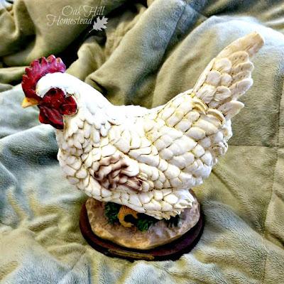 White hen figurine