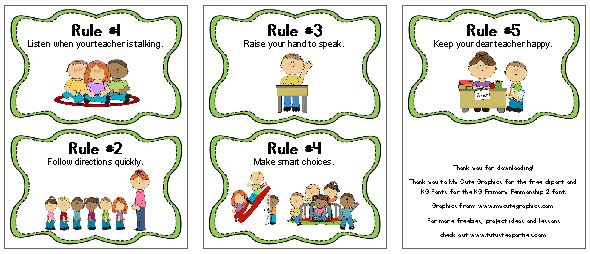 Free Printable Kindergarten Classroom Rules - Bitterroot Public Library