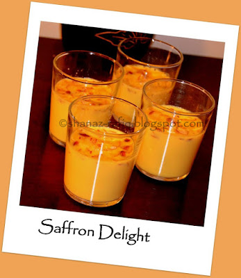 Saffron Agar Agar Dessert