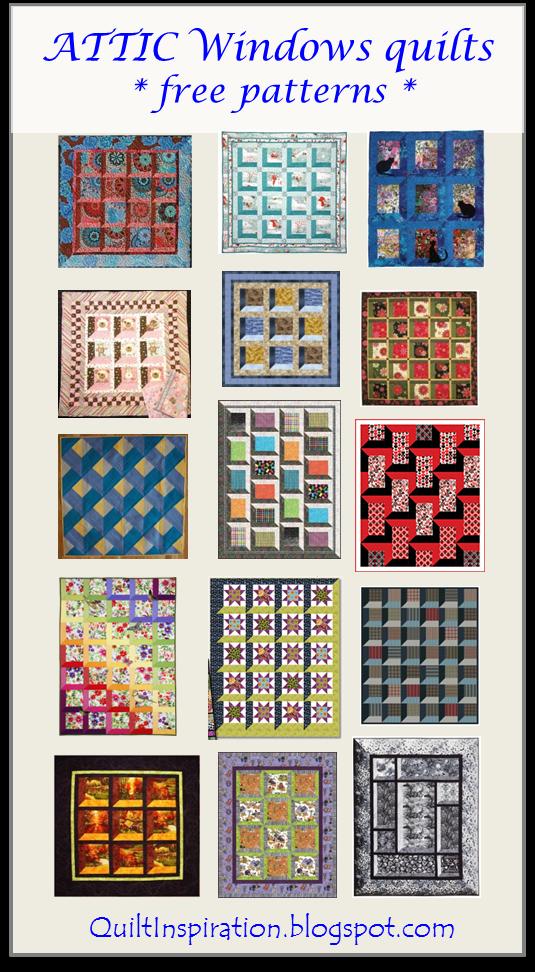 Window Quilt Pattern : window, quilt, pattern, Quilt, Inspiration:, Pattern, Attic, Windows, Quilts
