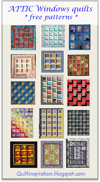 Quilt Inspiration: Free Pattern Day: Attic Windows Quilts : free attic window quilt pattern - Adamdwight.com