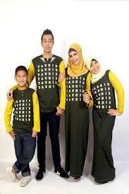 Model Baju kaos Muslim Gamis Keluarga